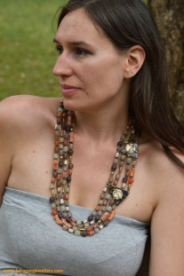 Layered African Necklace